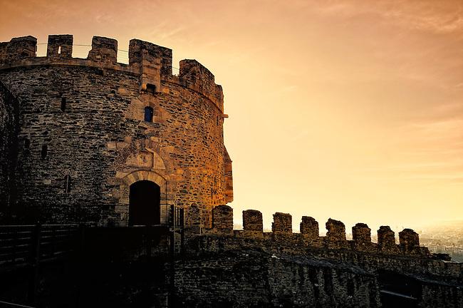 Old Byzantine castle in Thessaloniki, Greece