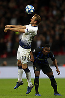 Kwadwo Asamoah of Internazionale and Harry Kane of Tottenham Hotspur during Tottenham Hotspur vs Inter Milan, UEFA Champions League Football at Wembley Stadium on 28th November 2018