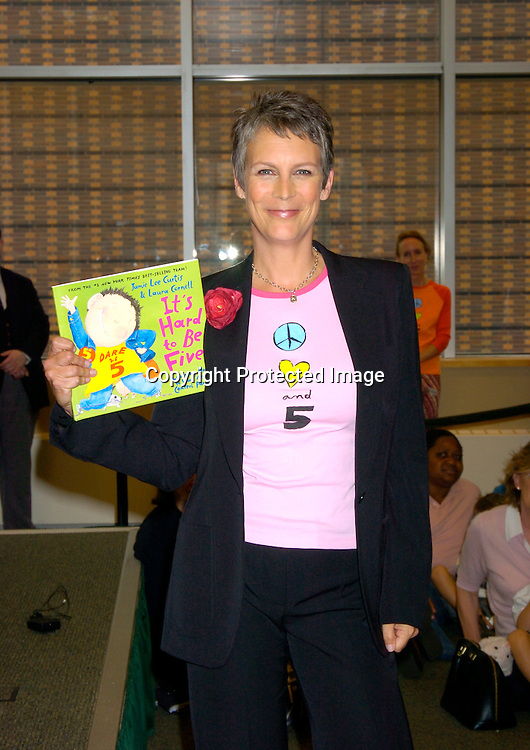 "Jamie Lee Curtis ..at at book signing for her new children's book ""It's Hard to Be Five"" on September 7, 2004 at Barnes and Nobles ..at Lincoln Center. Photo by Robin Platzer, Twin Images"