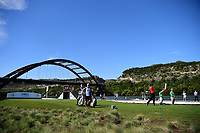 Jon Rahm (ESP) watches his tee shot on 13 during round 2 of the World Golf Championships, Dell Technologies Match Play, Austin Country Club, Austin, Texas, USA. 3/23/2017.<br /> Picture: Golffile | Ken Murray<br /> <br /> <br /> All photo usage must carry mandatory copyright credit (&copy; Golffile | Ken Murray)