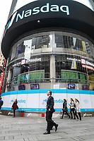NEW YORK, NY, 04.04.2017 - ECONOMIA-NASDAQ - Vista da bolsa de valores Nasdaq em New York nesta terça-feira, 04. (Foto: William Volcov/Brazil Photo Press)