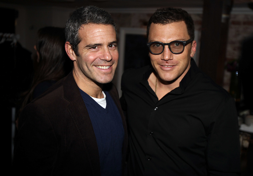 Andy Cohen and Sean Avery ( one of the host of the diner) attends the Gilt Man diner at the Fedora in New York City on February 16,2011. ( Donald Traill/ Wall Street Journal) 10770 Gilt Man Diner