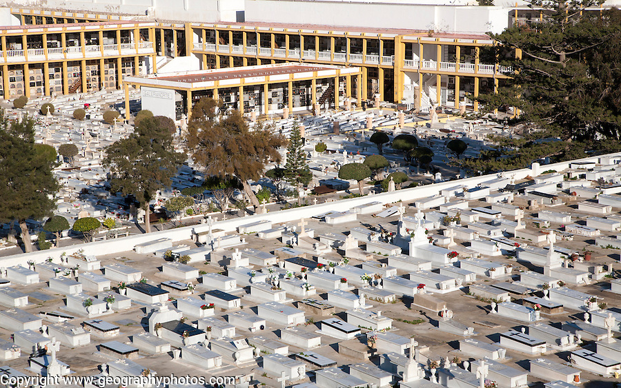 Cemetery in Melilla autonomous city state Spanish territory in north Africa, Spain