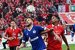 11.05.2019, BayArena, Leverkusen, GER, 1. FBL, Bayer 04 Leverkusen vs. FC Schalke 04 ,<br />  <br /> DFL regulations prohibit any use of photographs as image sequences and/or quasi-video<br /> <br /> im Bild / picture shows: <br /> Kopfballduell zwischen  Guido Burgstaller (FC Schalke #19),  Wendell (Leverkusen #18), <br /> <br /> Foto &copy; nordphoto / Meuter