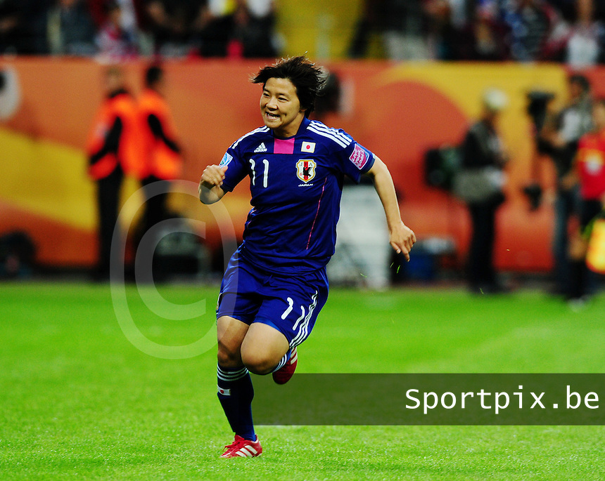 Fifa Women's World Cup Germany 2011 : Japan - USA  at Commerzbank Arena Frankfurt : Shinobu Ohno.foto DAVID CATRY / Vrouwenteam.be
