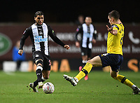 4th February 2020; Kassam Stadium, Oxford, Oxfordshire, England; English FA Cup Football; Oxford United versus Newcastle United; Alex Gorrin of Oxford tackles DeAndre Yedlin of Newcastle