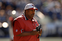 Sep 25, 2005; Seattle, WA, USA; Arizona Cardinals head coach Dennis Green watches his team against the Seattle Seahawks.in the second quarter at Qwest Field. Mandatory Credit: Photo By Mark J. Rebilas
