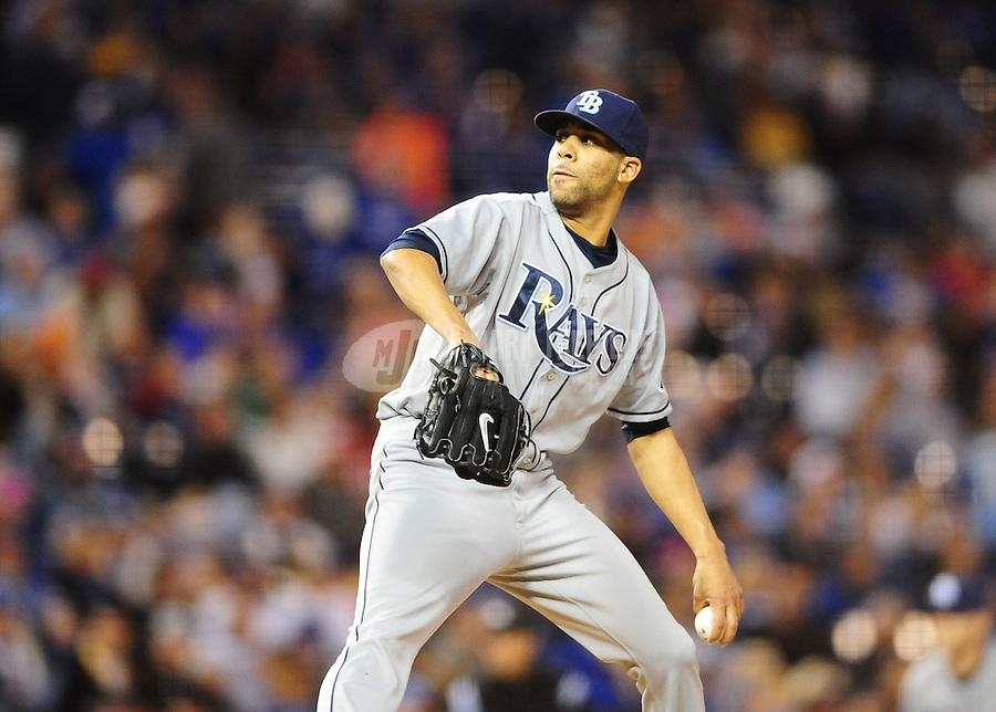 Oct. 2, 2010; Kansas City, MO, USA; Tampa Bay Rays pitcher David Price throws in the fifth inning against the Kansas City Royals at Kauffman Stadium. Mandatory Credit: Mark J. Rebilas-