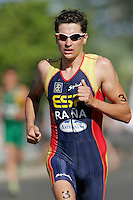 26 MAR 2006 - MOOLOOLABA, AUSTRALIA - Ivan Rana (ESP) - Mooloolaba ITU World Cup triathlon round. (PHOTO (C) NIGEL FARROW)
