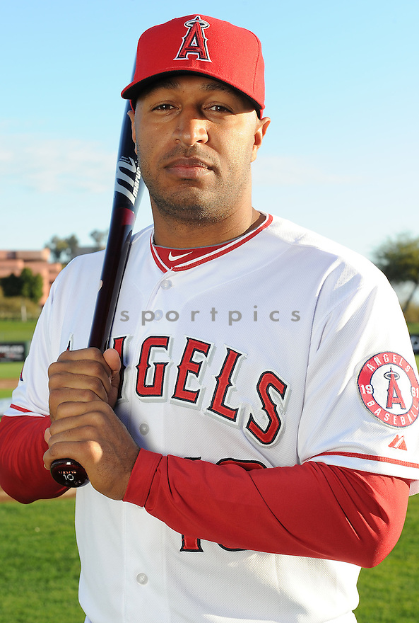 Los Angeles Angels Vernon Wells (10) during media photo day on February 21, 2013 at spring training in Tempe, AZ.