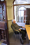 James Lovelock (b 1919), originator of the Gaia Theory, at the Oxford Martin School, during the FT Weekend Oxford Literary Festival, Oxford, UK. Saturday 29 March 2014.<br /> <br /> PHOTO COPYRIGHT Graham Harrison<br /> graham@grahamharrison.com<br /> <br /> Moral rights asserted.