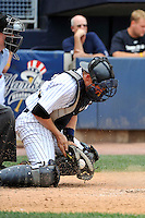 Staten Island Yankees catcher Nick McCoy #12 during a game against the Tri-City  Valley Cats at Richmond County Bank Ballpark at St. George on July 25, 2011 in Staten Island, NY.  Staten Island defeated Tri-City 2-1.  Tomasso DeRosa/Four Seam Images