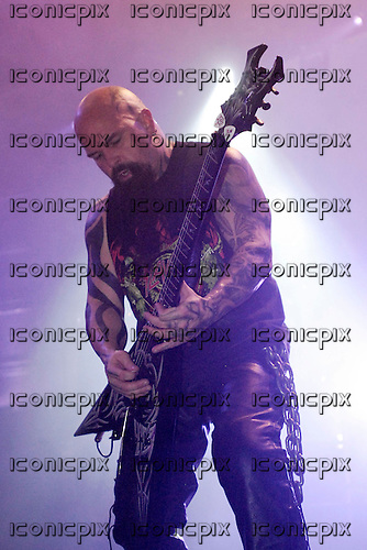 Slayer - guitarist Kerry King - performing live on the Unholy Alliance Chapter 2 Tour at the Academy in Brixton London UK - 20 Nov 2006.  Photo credit: George Chin/IconicPix