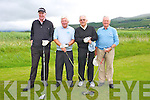 Arthur Spring, Sean O'Connor, Michael Murphy, Ivan Morris at the Official opening of the New Clubhouse at Castlegregory golf course on Saturday.