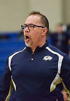 NWA Democrat-Gazette/CHARLIE KAIJO Bentonville West High School head coach Randy Richardson calls out to his players during a basketball game, Friday, February 8, 2019 at Rogers High School in Rogers.