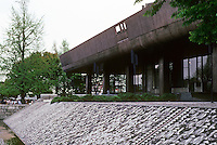 Tokyo: Metropolitan Festival Hall. Kunio Mayekawa, 1961. Photo '82.