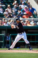 Detroit Tigers designated hitter Dustin Peterson (13) at bat during a Grapefruit League Spring Training game against the Atlanta Braves on March 2, 2019 at Publix Field at Joker Marchant Stadium in Lakeland, Florida.  Tigers defeated the Braves 7-4.  (Mike Janes/Four Seam Images)