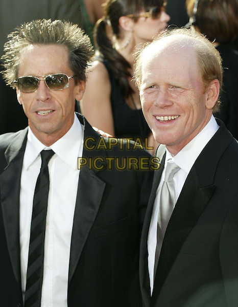 RON HOWARD & BRIAN GRAZER.At the 56th Annual Prime Time Emmy Awards held the Shrine Auditorium, Los Angeles, CA, USA, .19th September, 2004..half length .Ref: ADM.www.capitalpictures.com.sales@capitalpictures.com.©Charles Harris/AdMedia/Capital Pictures .