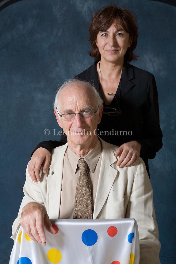 Michelina Borsari, ex-director of Modena Philosophy Festival, and James Hillman, American psychoanalyst, essaysit and philosopher.