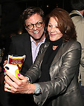 Jim Caruso and Linda Lavin at The Red Barn Studio Theatre Off-Broadway production of 'Positions' at the Roy Arias Studio Theatre on October 10, 2012 in New York City.