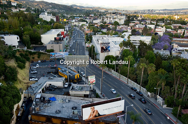 The Chateau Marmont in the Hollywood Hills above the Sunset Strip in West Hollywood nieghborhood of Los Angeles
