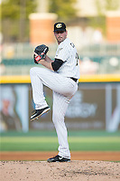 Charlotte Knights starting pitcher Scott Carroll (29) in action against the Durham Bulls at BB&T BallPark on July 22, 2015 in Charlotte, North Carolina.  The Knights defeated the Bulls 6-4.  (Brian Westerholt/Four Seam Images)