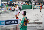 March 3, 2019, Tokyo, Japan - Japan's Kensuke Horio (L) leads his compatriot Masato Imai at the Tokyo Marathon 2019 in Tokyo on Sunday, March 3, 2019. Horio finished the fifth with a time of 2 hours 10 minutes 21 seconds.  (Photo by Yoshio Tsunoda/AFLO)
