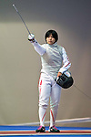 Karin Miyawaki (JPN),<br /> AUGUST 10, 2013 - Fencing :<br /> World Fencing Championships Budapest 2013, Women's Team Foil Round of 16 at Syma Hall in Budapest, Hungary. (Photo by Enrico Calderoni/AFLO SPORT) [0391]
