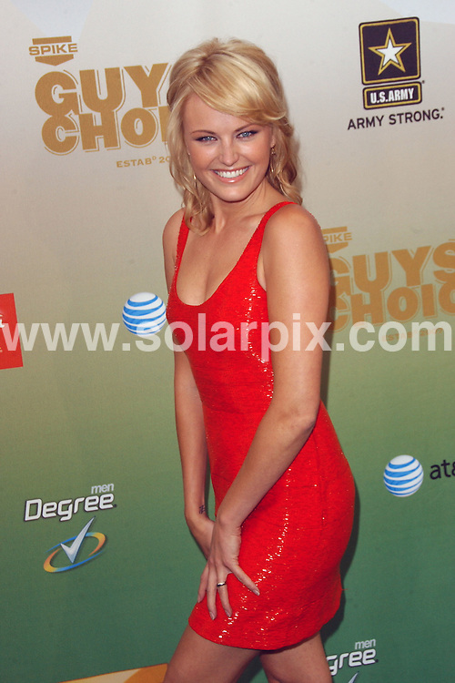 **ALL ROUND PICTURES FROM SOLARPIX.COM**.**SYNDICATION RIGHTS FOR UK, AUSTRALIA, DENMARK, PORTUGAL, S. AFRICA, SPAIN & DUBAI (U.A.E) ONLY**.arrivals for the 2009 SpikeTV's Guy's Choice Awards. Held at Sony Studios, Culver City, CA. USA. 30 May 2009..This pic: Malin Akerman..JOB REF: 9131 PHZ (Ortega)   DATE: 30_05_2009.**MUST CREDIT SOLARPIX.COM OR DOUBLE FEE WILL BE CHARGED**.**ONLINE USAGE FEE GBP 50.00 PER PICTURE - NOTIFICATION OF USAGE TO PHOTO @ SOLARPIX.COM**.**CALL SOLARPIX : +34 952 811 768 or LOW RATE FROM UK 0844 617 7637**