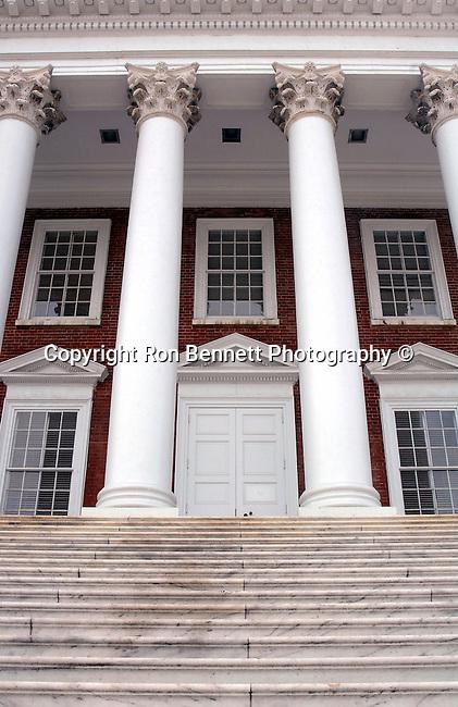 University Virginia (UVA) Rotunda pillars and windows Charlottesville Commonwealth of Virginia,