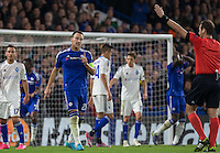 John Terry of Chelsea confronts the Referee over a decision during the UEFA Champions League Group G match between Chelsea and Dynamo Kyiv at Stamford Bridge, London, England on 4 November 2015. Photo by Andy Rowland.