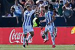CD Leganes's Martin Braithwaite celebrates goal during La Liga match, Round 25 between CD Leganes and Valencia CF at Butarque Stadium in Leganes, Spain. February 24, 2019. (ALTERPHOTOS/A. Perez Meca)
