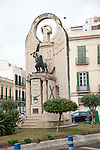 The Statue Grande Libre monument of 1936, Melilla autonomous city state Spanish territory in north Africa, Spain