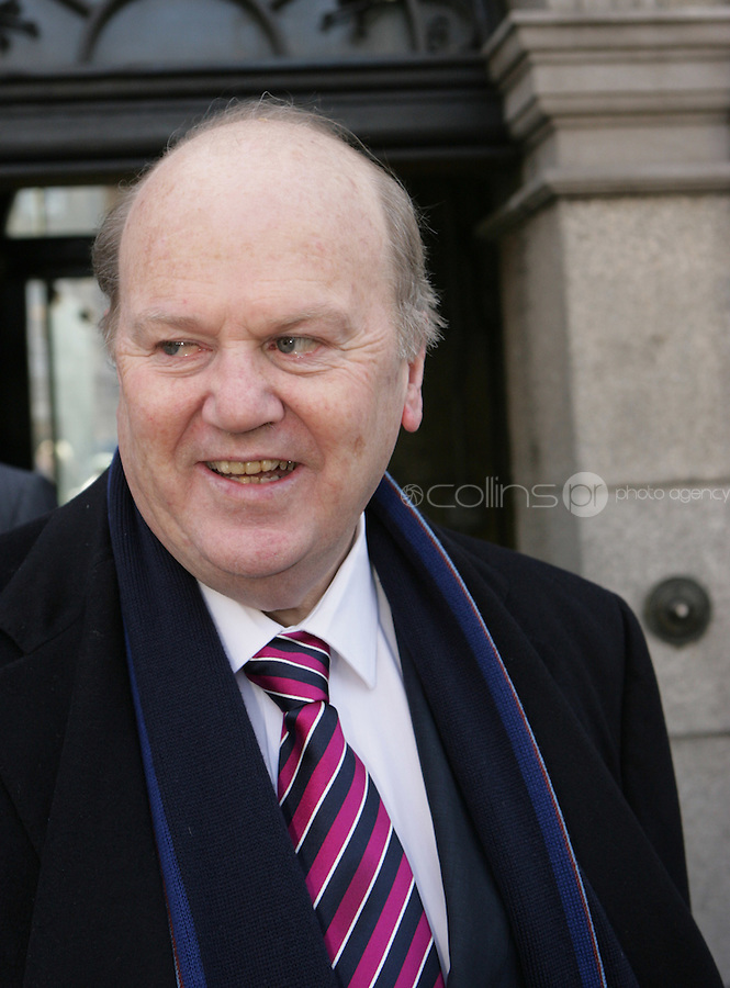 09/03/2011.Fine Gael TD Michael Noonan.during the 1st day of the 31st Dail.at Leinster House,  Dublin..Photo: Gareth Chaney Collins