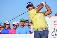 Anirban Lahiri (IND) watches his tee shot on 11 during round 3 of the Honda Classic, PGA National, Palm Beach Gardens, West Palm Beach, Florida, USA. 2/25/2017.<br /> Picture: Golffile | Ken Murray<br /> <br /> <br /> All photo usage must carry mandatory copyright credit (&copy; Golffile | Ken Murray)