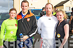 Mountcollins 5k run/walk fundraising event.  All proceeds will go to the Ray of Sunshine foundation to help local volunteers Patrick Lenihan, Mary Barry and Seamus Hickey who will be travelling to Kenya to help build schools.  Pictured here L-R Lorraine McCarthy, Tom McCarthy, Mike Dillane of Mountcollins and Sinead O'Connor of Knocknagoshel.