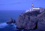 Europe, PRT, Portugal, Algarve, Sagres, Landscape, Typical Coast, Cabo de Sao Vicente, Rocky Coast, Lighthouse at the Evening, Twilight.....[ For each utilisation of my images my General Terms and Conditions are mandatory. Usage only against use message and proof. Download of my General Terms and Conditions under http://www.image-box.com or ask for sending. A clearance before usage is necessary...Material is subject to royalties. Each utilisation of my images is subject to a fee in accordance to the present valid MFM-List...Contact | archive@image-box.com | www.image-box.com ]