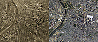 historical aerial photo map comparison of 60 years of changes in  Philadelphia, PA, from 1950 to 2010.  To obtain historical aerial photography of Pennyslvania for a specific project, please submit our research request form available at http://www.aerialarchives.com/download/GeoResearchForm.pdf.