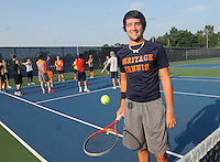 STAFF PHOTO FLIP PUTTHOFF <br /> Derek Groomer will be on    Friday Aug. 8 2014    the court with the War Eagles tennis team this season.