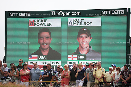 Screen, JULY 20, 2014 - Golf : Final round of the 143rd British Open Championship at Royal Liverpool Golf Club in Hoylake, England. (Photo by Koji Aoki/AFLO SPORT) [0008]