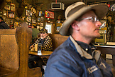 USA, Oregon, Imnaha, locals have lunch at the Imnaha Store and Tavern, Northeast Oregon