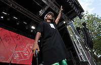 Jaden Smith performs in front of the crowd during The New Look Wireless Music Festival at Finsbury Park, London, England on Sunday 05 July 2015. Photo by Andy Rowland.