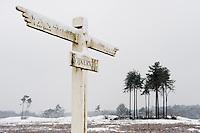 Nederland, Leusden, 24 jan 2010.Sneeuwlandschap op de Leusderhei, landgoed den Treek. . .Foto (c) Michiel Wijnbergh..