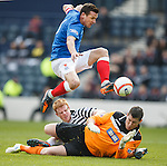 Lee McCulloch beats keeper Neil Parry and defender Peter Bradley