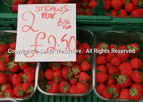 Produce available at the Market, University of Surrey.