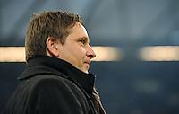 FUSSBALL   1. BUNDESLIGA   SAISON 2011/2012   22. SPIELTAG FC Schalke 04 - VfL Wolfsburg         19.02.2012 Horst Heldt  (FC Schalke 04)