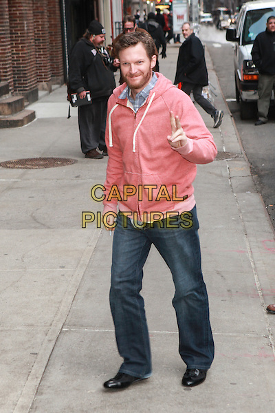 NEW YORK, NY -  FEBRUARY 24: Dale Earnhardt, Jr. visits the Late Show With David Letterman on February 24, 2014 in New York City. <br /> CAP/MPI/COR<br /> &copy;Corredor99/ MediaPunch/Capital Pictures