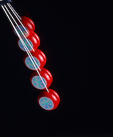ANGULAR OR ROTATIONAL MOMENTUM OF A YO-YO<br /> Potential &amp; Kinetic Energy &amp; Newton's 3rd Law<br /> Due to its position the yo-yo has maximum potential energy at the top of its fall.  As it falls the potential energy becomes kinetic energy.  Maximum kinetic energy is reached at the bottom.