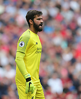 Liverpool's Alisson Becker<br /> <br /> Photographer Rob Newell/CameraSport<br /> <br /> The Premier League - Liverpool v West Ham United - Sunday August 12th 2018 - Anfield - Liverpool<br /> <br /> World Copyright &copy; 2018 CameraSport. All rights reserved. 43 Linden Ave. Countesthorpe. Leicester. England. LE8 5PG - Tel: +44 (0) 116 277 4147 - admin@camerasport.com - www.camerasport.com