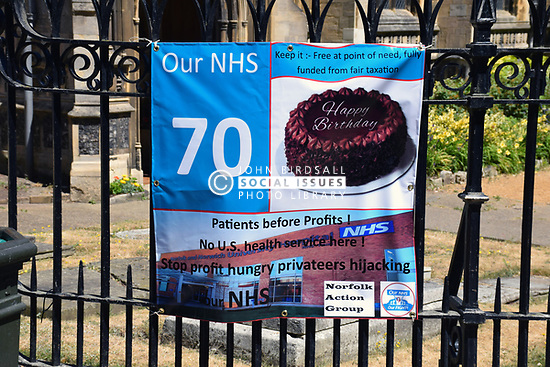 NHS 70th birthday event in central Norwich, June 2018 UK